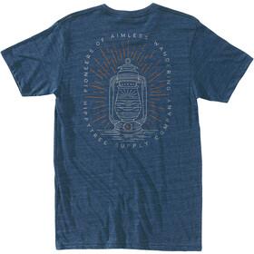 Hippy Tree Lantern T-shirt Herrer, heather navy